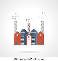 Pharmaceutical plant vector icon flat style - Flat color...