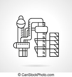 Distillery vector icon thin line style - Flat thin line...