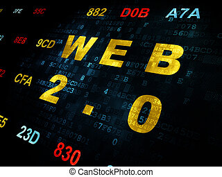 Web development concept: Web 20 on Digital background - Web...