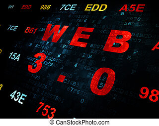 Web development concept: Web 3.0 on Digital background - Web...