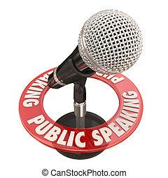 Public Speaking Microphone Keynote Speaker Address Speech