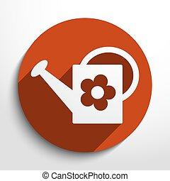 Vector bailer web icon - Vector bailer web flat icon in...