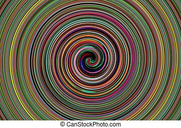 abstract colorful spiral - abstract of colorful spiral for...