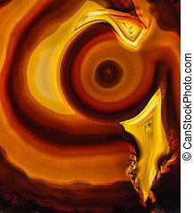 Agate geode slice macro - macro detail shot of a brown...