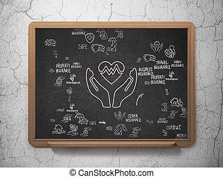 学校, 健康, 板, 背景, 保険,  concept: