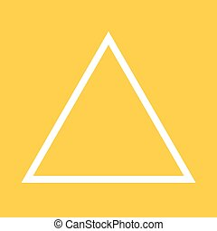 Triangle, design, pyramid icon vector image. Can also be...