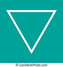Inverted Triangle - Triangle, design, pyramid icon vector...
