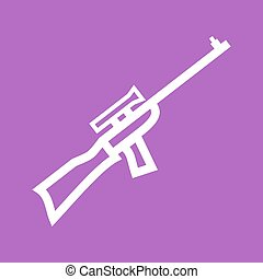 Sniper, military, rifle icon vector image. Can also be used...