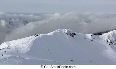 Third peak Aigbi in the Caucasus Mountains.