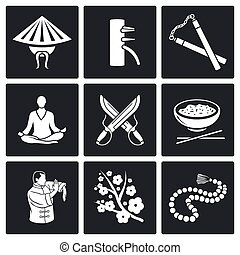 Martial Arts, Wing Chun Vector Icon - Vector Isolated Flat...