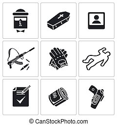 Contract killing profession Vector - Vector Isolated Flat...