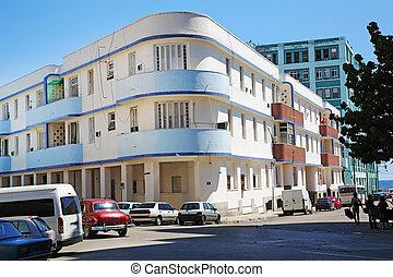 Art Deco Building Vedado Havana - an Art Deco building in...