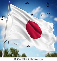 bandeira, de, Japão,
