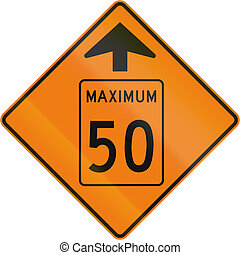 Temporary Maximum Speed 50 Kmh Ahead in Canada - Temporary...