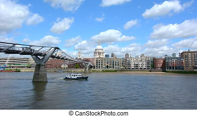 St Pauls Cathedral Millennium Bridg - St Pauls Cathedral the...