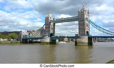Tower Bridge London River Thames - The Tower Bridge spanning...
