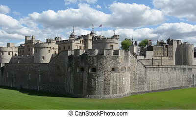 Tower of London in City of London - The outer curtain wall...