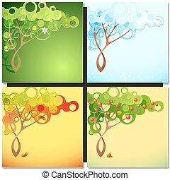 Abstract season tree