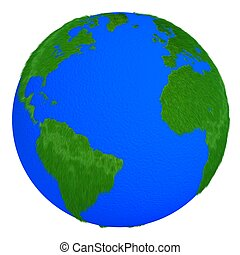 Globe of grass and water isolated