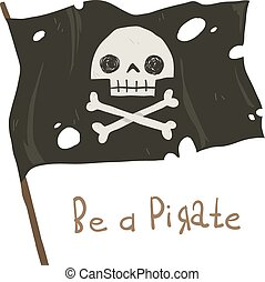 Be a pirate holiday cartoon greeting card.