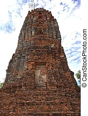 Buddha statue and stupa at Wat Mahathat, archaeological...