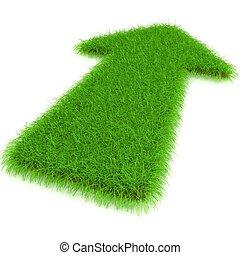 Arrow from a grass