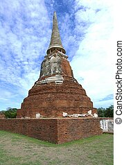 Stupa at Wat Mahathat, archaeological sites and artifacts -...