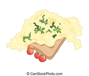 scrambled eggs - a vector illustration in eps 10 format of...