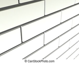 illustration of a white brick wall