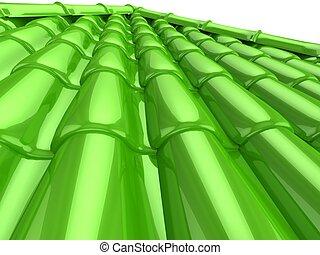 Roof tile - 3d high resolution render image of roof tile
