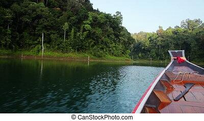 boat trip at cheow lan lake, - morning boat trip at cheow...