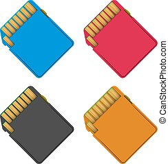 sd card abstract vector illustration eps 10