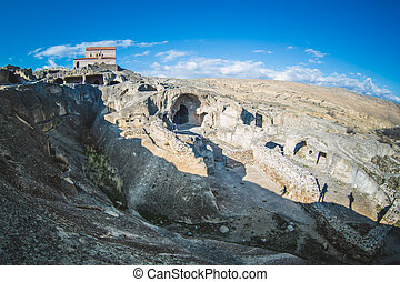 antiquité, ville, Ancien, orthodoxe, uplistsikhe, caverne,...