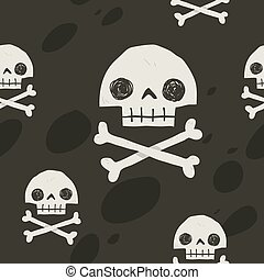 Pirate cartoon skull flag party card