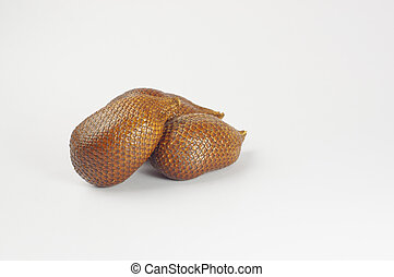 Salak Fruits - Close up view of Salak fruits isolated on...