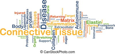 Connective tissue disease background concept - Background...