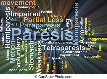 Paresis background concept glowing - Background concept...