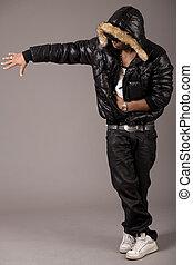 Black african rap performer