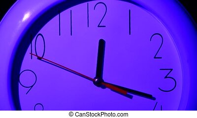 close up of an office clock, night, close up - close up of...