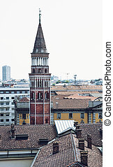 San Gottardo, Milan - Bell tower of the San Gottardo church...