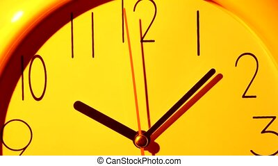 Vector yellow Clock Icon illustration. Close up - Vector...