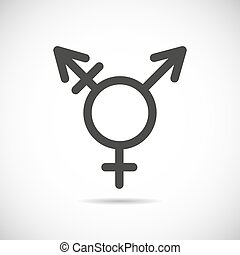 Transgender symbol icon - Vector linear black icon...
