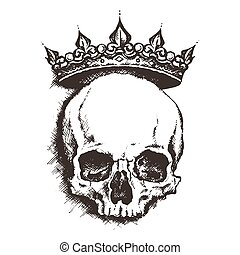 skull. drawing style. vector