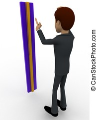 3d man confused with measurement concept