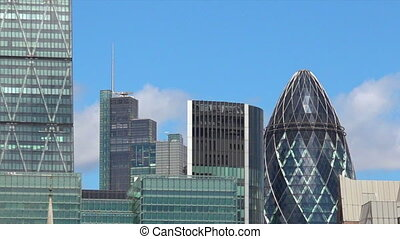 Skyline of city of London UK - The skyline of city of London...