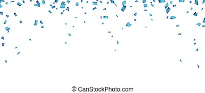 Blue confetti celebration banner. - Celebration banner with...
