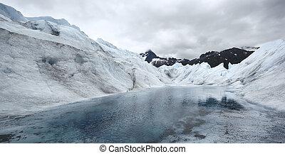 Lake in Mendenhall Glacier