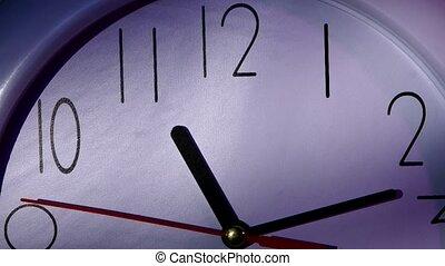 Clock showing Ten minutes past eleven. Close up - Clock...