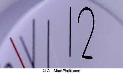 close up of an office clock office close up of an white...