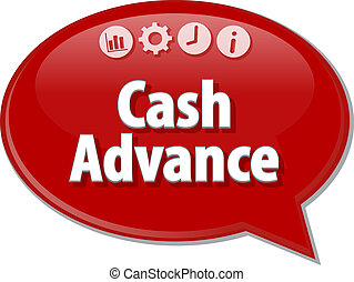 Cash Advance  blank business diagram illustration